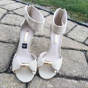Louise Et Cie bow heels with ankle strap
